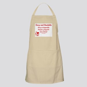 Sexy and Available... BBQ Apron