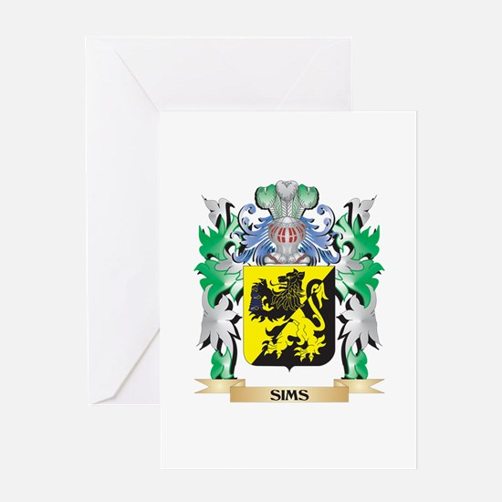 Sims Coat of Arms - Family Crest Greeting Cards