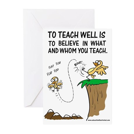 Believe in Whom You Teach Greeting Cards (Pk of 20