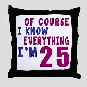 I Know Everythig I Am 25 Throw Pillow