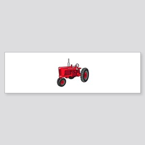 Vintage Red Tractor Bumper Sticker