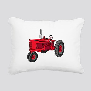 Vintage Red Tractor Rectangular Canvas Pillow