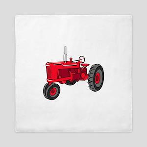 Vintage Red Tractor Queen Duvet
