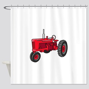 Vintage Red Tractor Shower Curtain