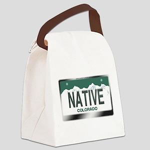 colorado_licenseplates-native3.pn Canvas Lunch Bag
