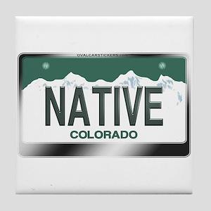 colorado_licenseplates-native3 Tile Coaster