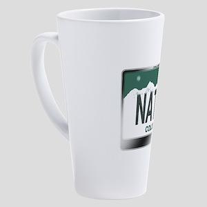 colorado_licenseplates-native3 17 oz Latte Mug
