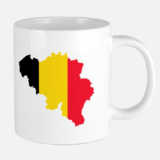 Belgium Flag and Map Mugs