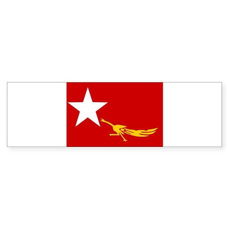 NLD BURMA FLAG Bumper Sticker
