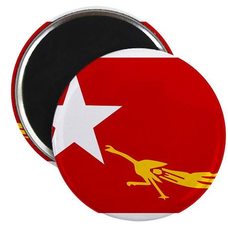 NLD BURMA FLAG Magnet