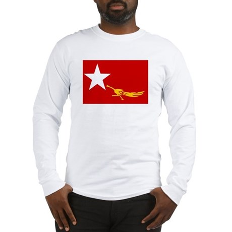 NLD BURMA FLAG Long Sleeve T-Shirt