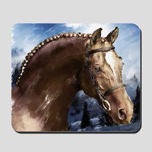 Winter Stallion Hy Holidays Mousepad
