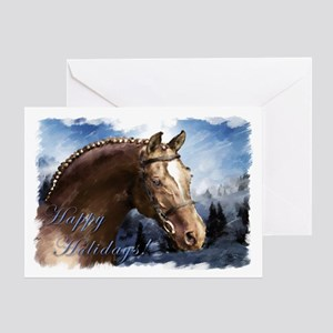 Winter Stallion, Happy Holidays. Greeting Card