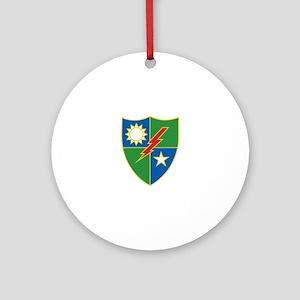 Army Ranger Crest Round Ornament