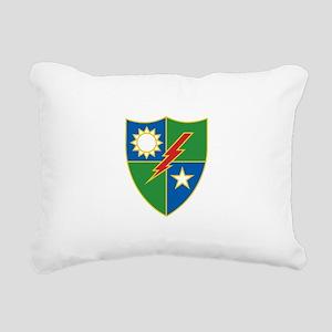 Army Ranger Crest Rectangular Canvas Pillow