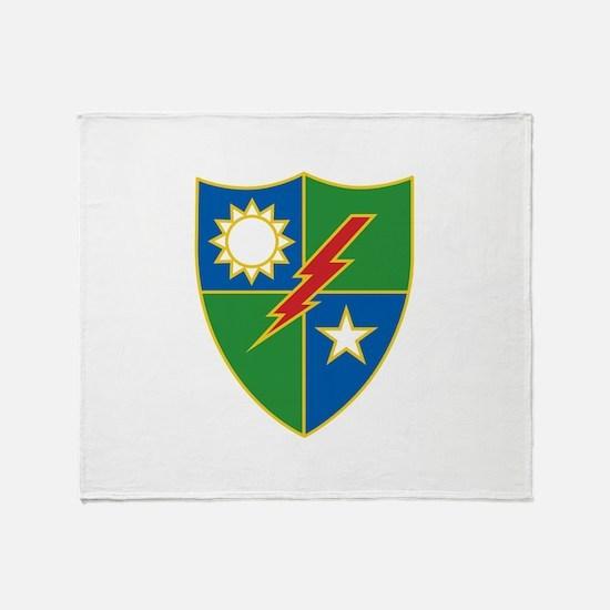 Army Ranger Crest Throw Blanket