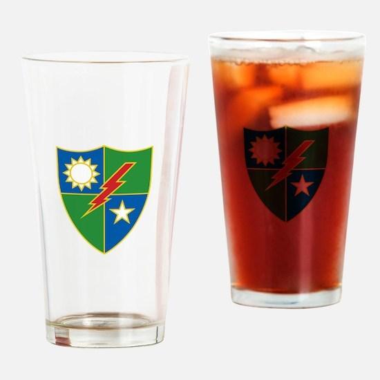 Army Ranger Crest Drinking Glass