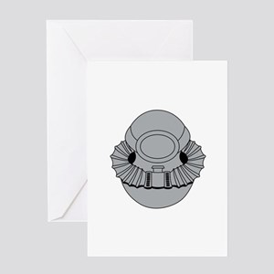 Military Diver Greeting Cards