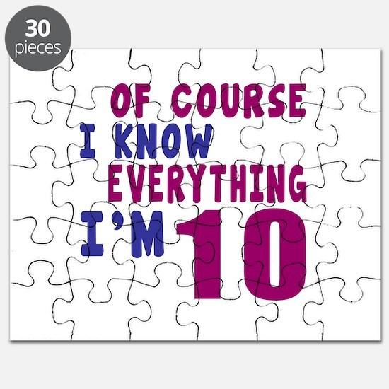I Know Everythig I Am 10 Puzzle