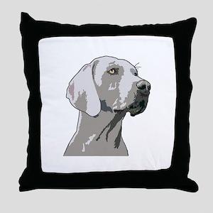 Weimaraner Head Throw Pillow