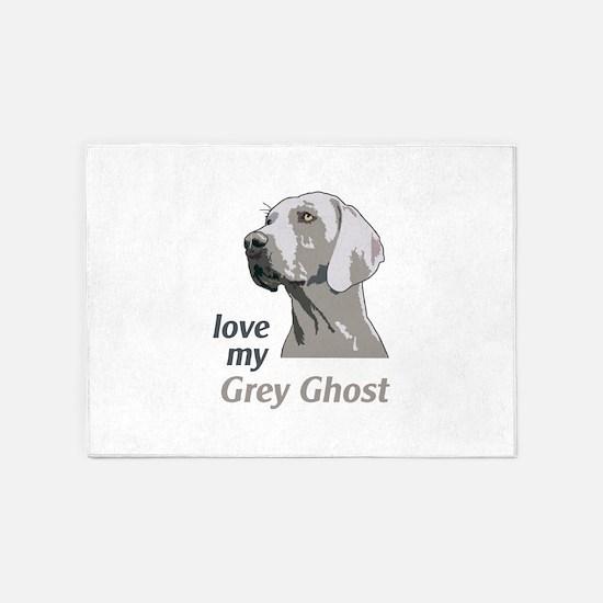Love My Grey Ghost 5'x7'Area Rug