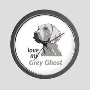 Love My Grey Ghost Wall Clock