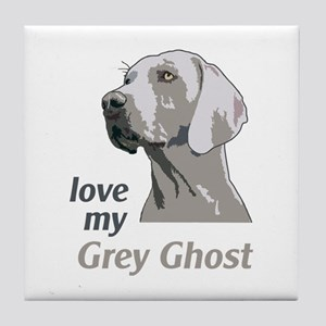 Love My Grey Ghost Tile Coaster