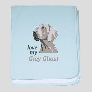 Love My Grey Ghost baby blanket