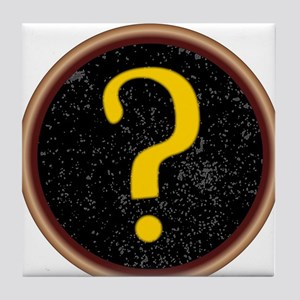Question Mark Key Tile Coaster