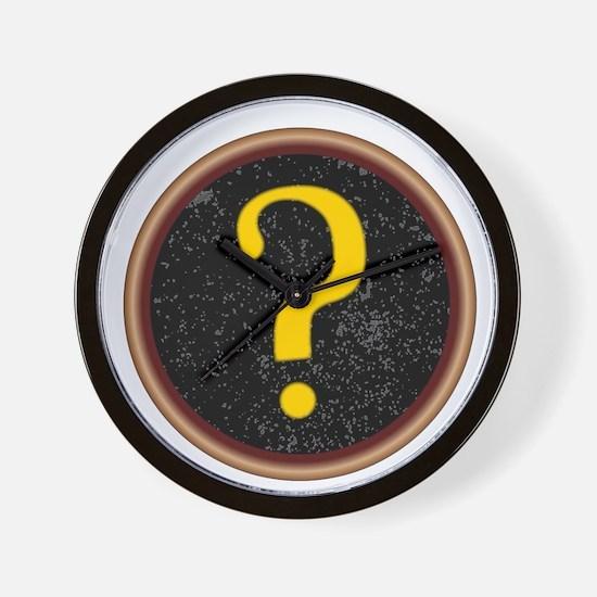 Question Mark Key Wall Clock