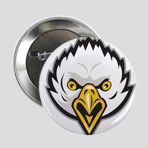 "American Bald Eagle Head Screaming Retro 2.25"" But"