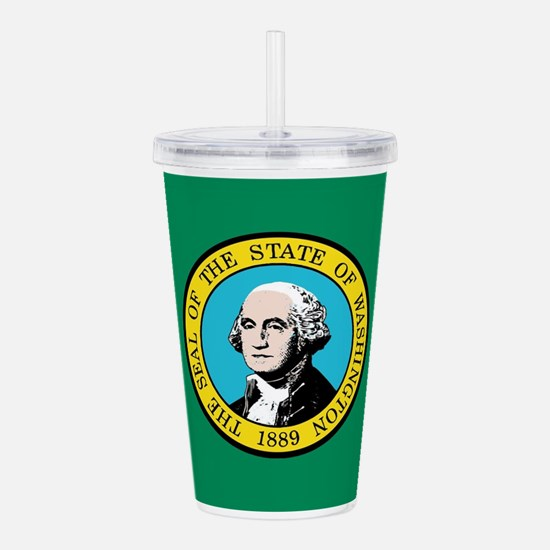 Flag of Washington Sta Acrylic Double-wall Tumbler