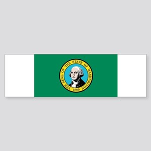 Flag of Washington State Bumper Sticker