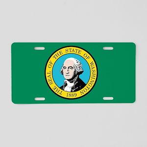 Flag of Washington State Aluminum License Plate