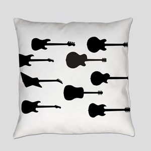 Rock Guitar Silhouettes Everyday Pillow