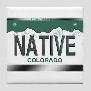 colorado_licenseplates-native2 Tile Coaster
