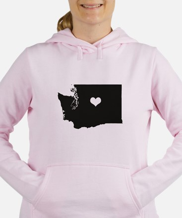 Heart in Washington State Hoodie Sweatshirt