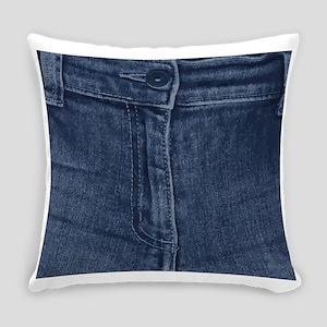 Jean Zipper Everyday Pillow