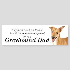 Greyhound Dad Bumper Sticker