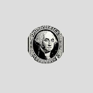 Black Washington 10 Cent Stamp Mini Button