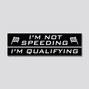 I'm Qualifying Car Magnet 10 x 3