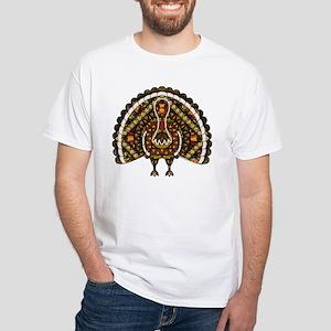 Fall Turkey White T-Shirt