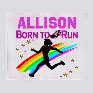 PERSONALIZE RUNNER Throw Blanket