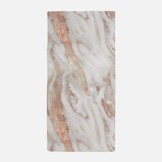 Rose Gold Marble Beach Towel