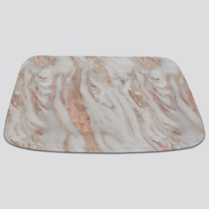 Rose Gold Marble Bathmat