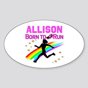 PERSONALIZE RUNNER Sticker (Oval)