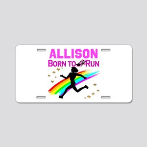 PERSONALIZE RUNNER Aluminum License Plate