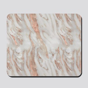 Rose Gold Marble Mousepad