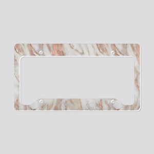 Rose Gold Marble License Plate Holder