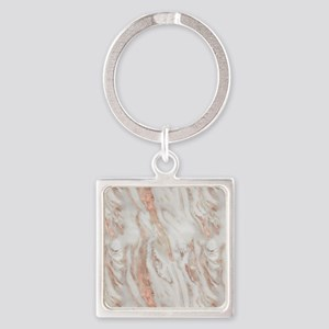 Rose Gold Marble Keychains